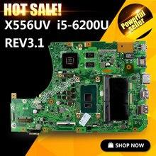 Hot selling! X556U X556UV X556UV X556UB X556UR For ASUS Laptop Motherboard CPU i5-6200U REV:3.1 GeForce 920M 2GB 100% tested