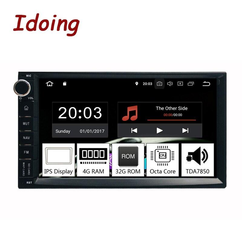 Idoing 7Universal Octa Core 2Din Car Android 8.0 Radio Multimedia Player PX5 4G RAM 32G ROM GPS Navigation IPS Screen TDA 7850 octa core android 8 1 2g ram 32g rom 2 5d ips screen for bmw e39 e53 support carplay gps navigation 4g fm radio