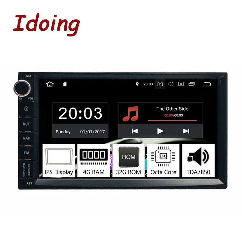 Idoing 7Universal Octa Core 2Din Car Android 9.0 Radio Multimedia Player PX5 4G RAM 32G ROM GPS Navigation IPS Screen TDA 7850