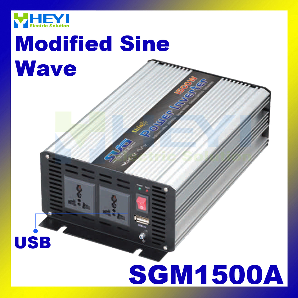 цена на Modified Sine Wave Inverter 1500W with USB input 12VDC 24VDC 48VDC output 110VAC 220VAC solar micro inverter