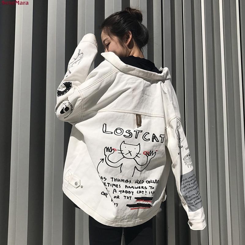 SexeMara fashion The New Loose Graffiti Retro Leisure jacket Free shipping