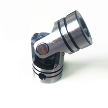 1pc High Quality 40Cr Steel Universal Joint Inner Dia. 5MM 6MM 8MM 10MM Fixed Connector For Cross Shaft Universal Coupling