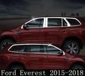 Edelstahl Auto Voller Fenster Dekoration Streifen Trim Passt Für Ford Everest 2015 2016 2017 2018|Chrom-Styling|   -