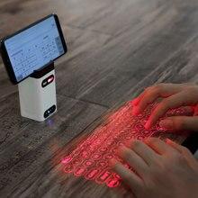Wirtualna klawiatura laserowa Bluetooth bezprzewodowa projekcja mini klawiatura przenośna do komputera podkładka pod telefon Laptop z funkcją myszy