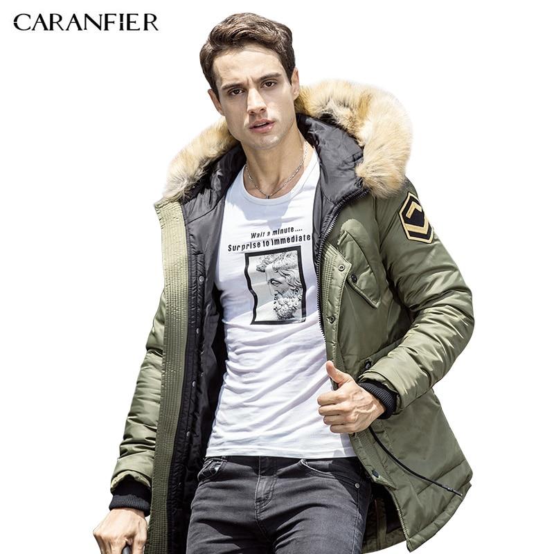 CARANFIER 2017 Winter Men Parkas Clothes Coats Fashion Brand Parka Men Clothing Zipper Coat Male With Pockets Plus Size M-3XL мужской пуховик brand new m 3xl men warm coats