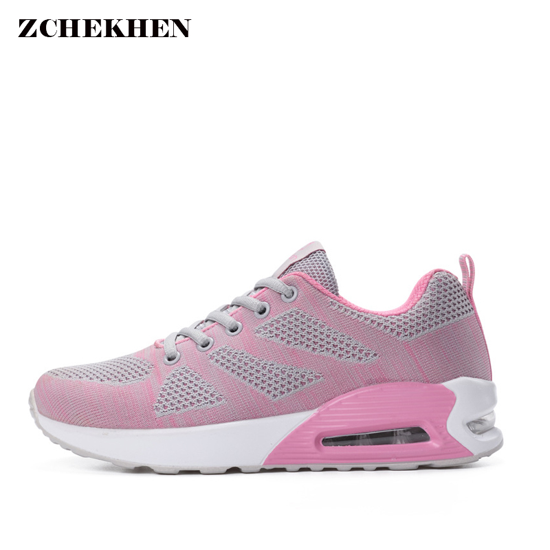 Women Air Mesh Casual Shoes Breathable Superstar Trainers Air cushion damping Femme Chaussure Tenis Feminino women Shoes original new arrival 2017 nike zoom condition tr women s running shoes sneakers