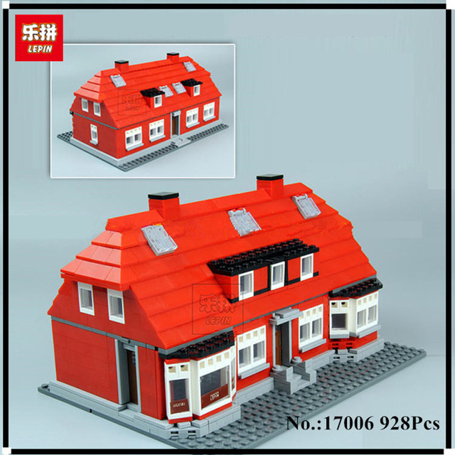 New Lepin 17006 928Pcs Creator Serier The Red House Set 4000007 Education Building Kits Blocks Bricks Model Children Toys Gift new lepin 23015 science and technology education toys 485pcs building blocks set classic pegasus toys children gifts