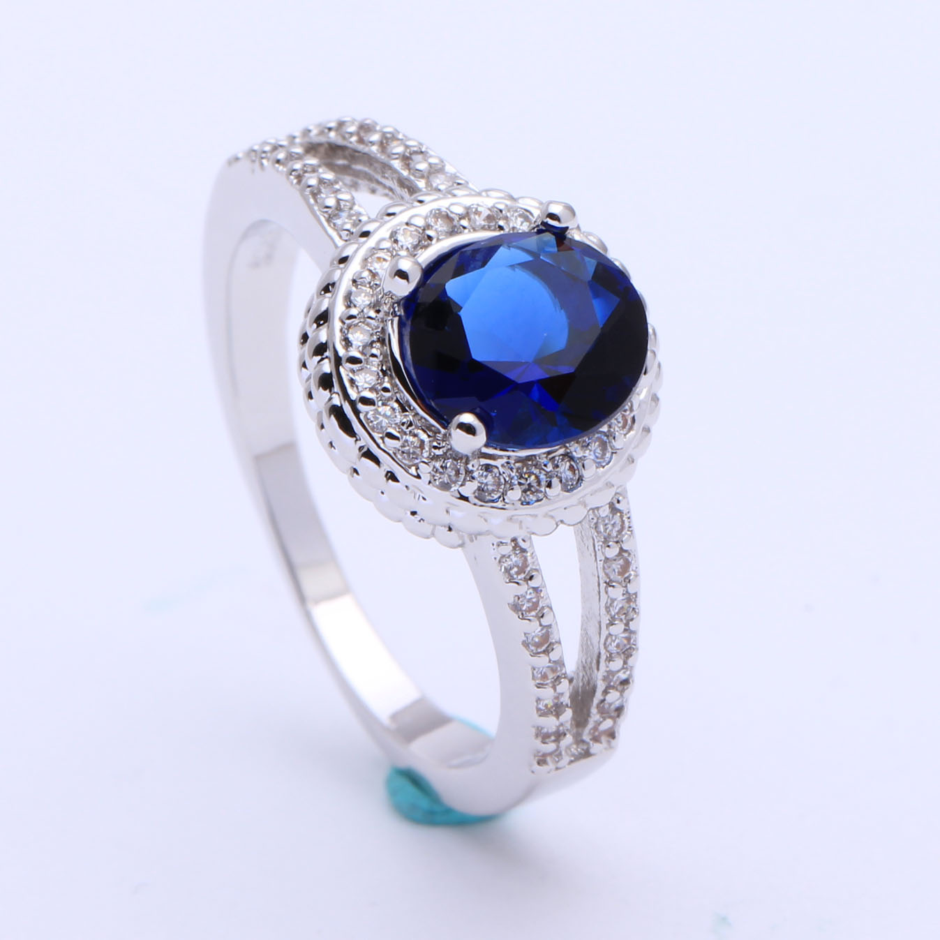 Women royal blue wedding rings top quality luxury for Best quality wedding rings