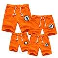 Hot verão shorts de alta qualidade olhar família mãe pai do bebê shorts de algodão família combinando meninos meninas mulheres homens sports shorts