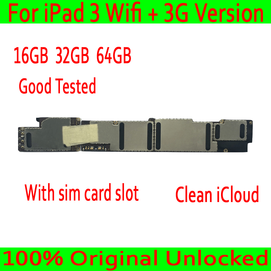 Original unlocked For iPad 3 Motherboard Wifi+3G Version,Clean iCloud With sim card slot for iPad 3 Mainboard Wifi+3G VersionOriginal unlocked For iPad 3 Motherboard Wifi+3G Version,Clean iCloud With sim card slot for iPad 3 Mainboard Wifi+3G Version