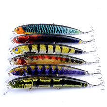 Wobblers Bait 6 Colors 12.5cm 15.9g Hard Bait Minnow Crank Fishing Lures Bass Fresh Salt Water 6# VMC Hooks LD-132