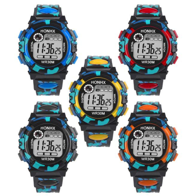 relogio masculino erkek kol saati reloj mujer Kids Child Boy Girl Multifunction