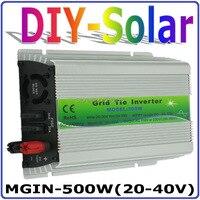 500 Вт 20 40vdc солнечная для 30 В 60 клеток Панели солнечные, функция MPPT, 90 260vac Чистая синусоида микро на галстук инвертора сетки