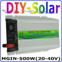 500W 20 40VDC solar for 30V 60Cells Solar Panel, MPPT function, 90 260VAC Pure Sine wave Micro On Grid Tie Inverter