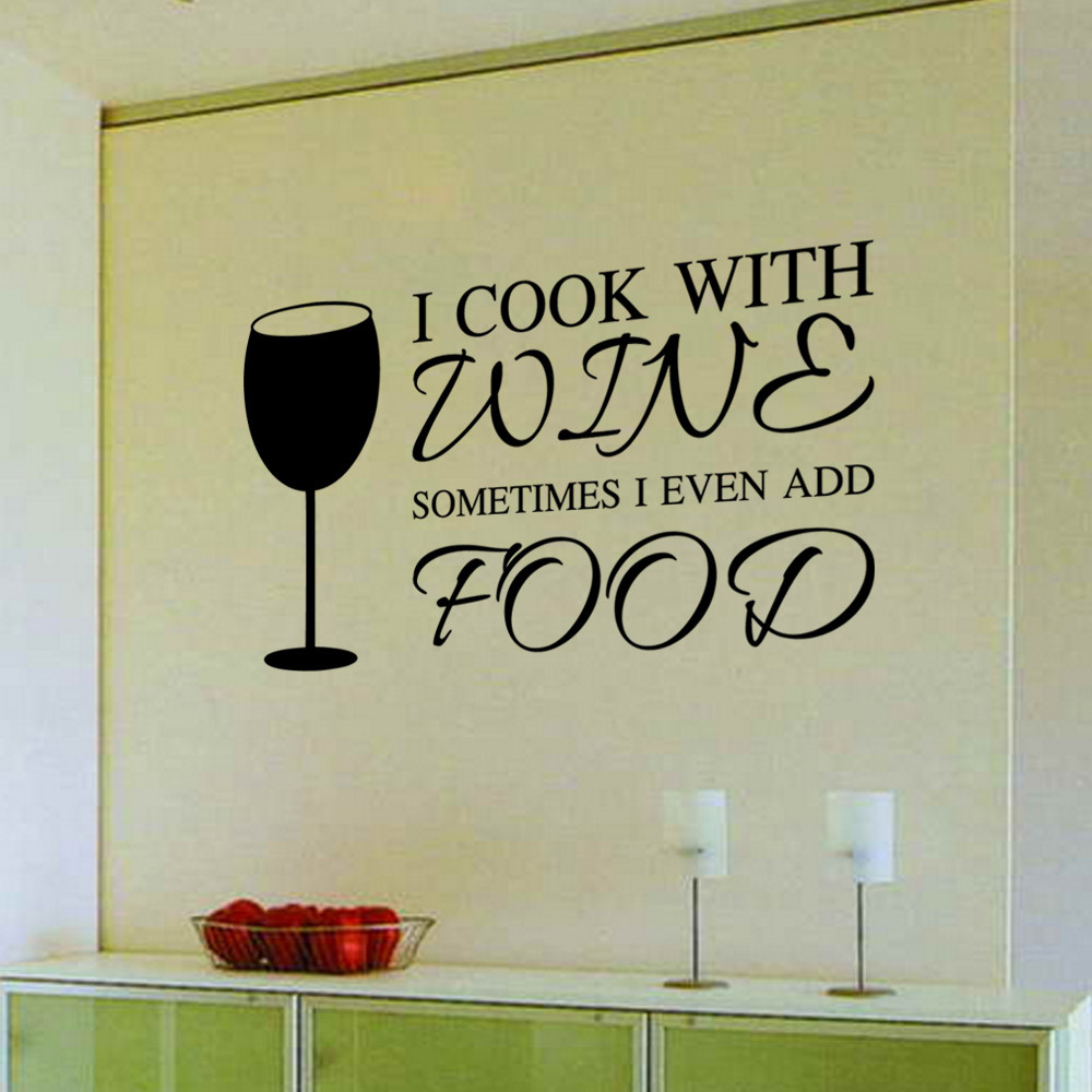 Glass Letters For Wall 9346 Home Decor Diy Wine A Bit Letters Quote Pvc Wall Art Sticker