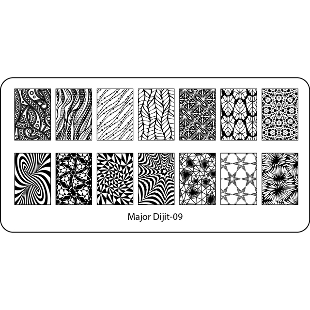1pc nail art stamp template image plate rectangular stamping plates