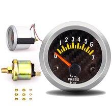 Датчик давления масла 12 в 52 мм Датчик давления масла с датчиком 0-7 бар автомобильный измеритель цифровой датчик топлива тестер olie meter pression huile