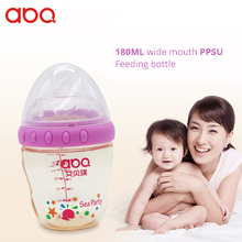 180ml Wide Mouth PPSU Feeding Bottle Baby Drinker Bottles For Children No Handle With A Tube