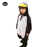 Boy S Jumpsuit Flannel Thickening Casual Wear Children Parent Child Home Clothing Girl Romper Clothing Penguin