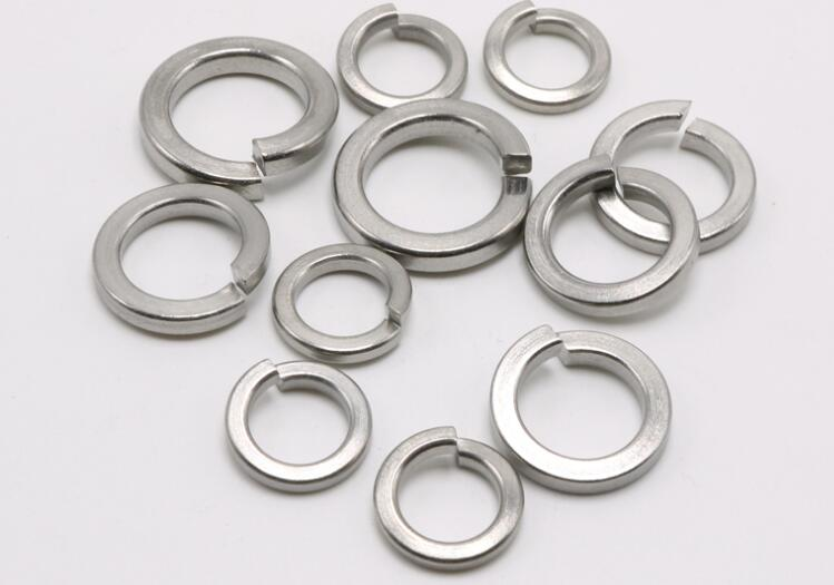 1000pcs M2 M2.5 M3 M4 M5 Stainless Steel Spring Washer Split Locking Washer image