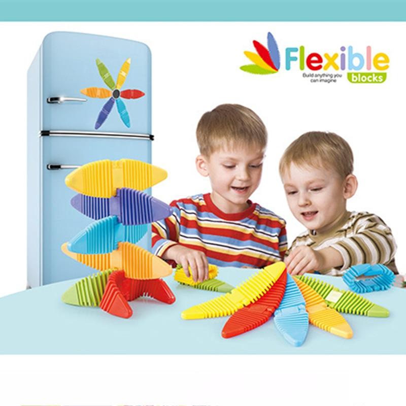 Magnaflex Flexible Magnetic Blocks Building Blocks Educational Bendable DIY Magnetic Classic Xmas Gift Toys For Children