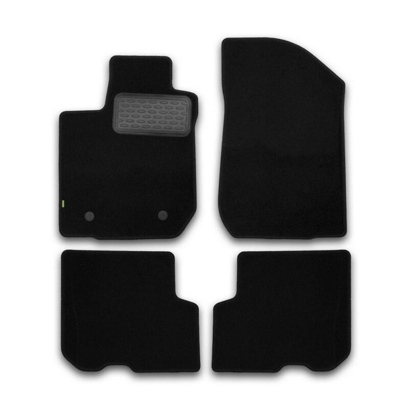 Mats in salon Klever Standard For RENAULT Logan 2014->, сед... 4 PCs (textile) mats in salon klever premium for renault logan 2004 2009 2010 2014 сед 5 pcs textile