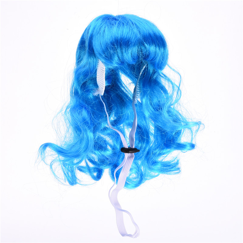 Pet Products Beautiful Dogs Orange Long Hair-halved Curly Wig Cosplay Halloween Costume Fancy Dress Pet Hair Accessories Newest 2017 Strong Packing Dog Accessories