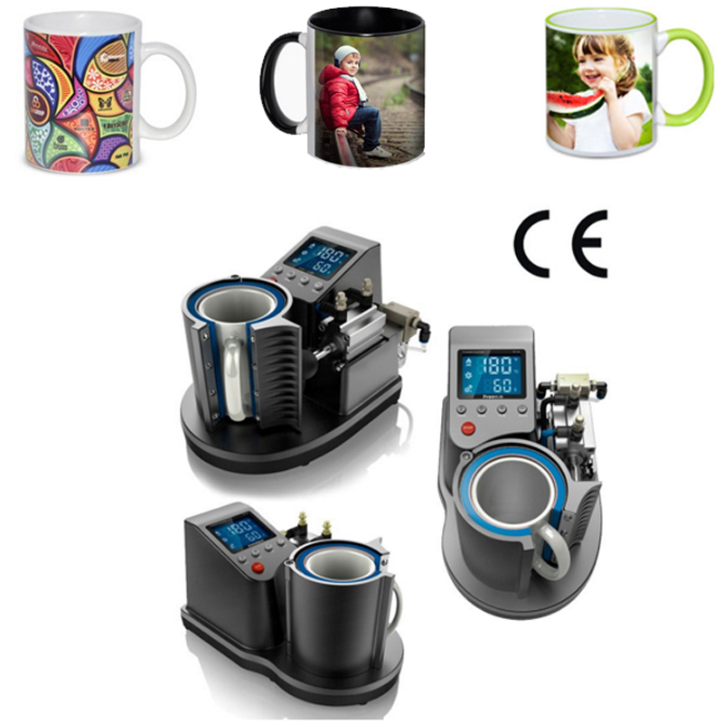 New Ariival ST-110 Pneumatic Mug Heat Press Machine Sublimation Printer 2D Digital Thermal Mug Printing Machine Собака