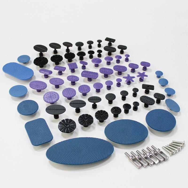 Kit d'outils pdr extracteur de colle onglets réparation de dent auto carrosserie outils à main colle tirant le système de retrait de dent grand rond ovale