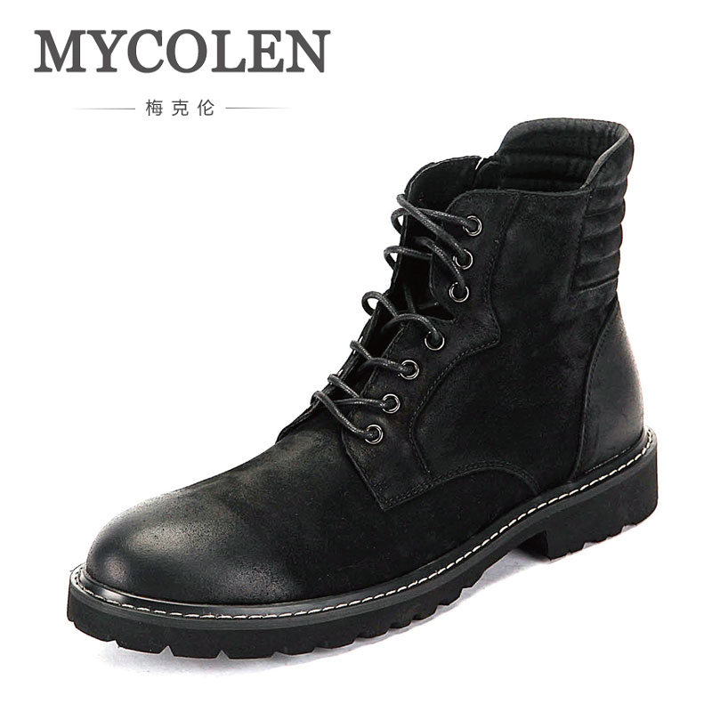 MYCOLEN Winter Fashion Military Boots MenS Tide Comfortable Ankle Boots High Quality Men Work Boots Men Snow Footwear MYCOLEN Winter Fashion Military Boots MenS Tide Comfortable Ankle Boots High Quality Men Work Boots Men Snow Footwear