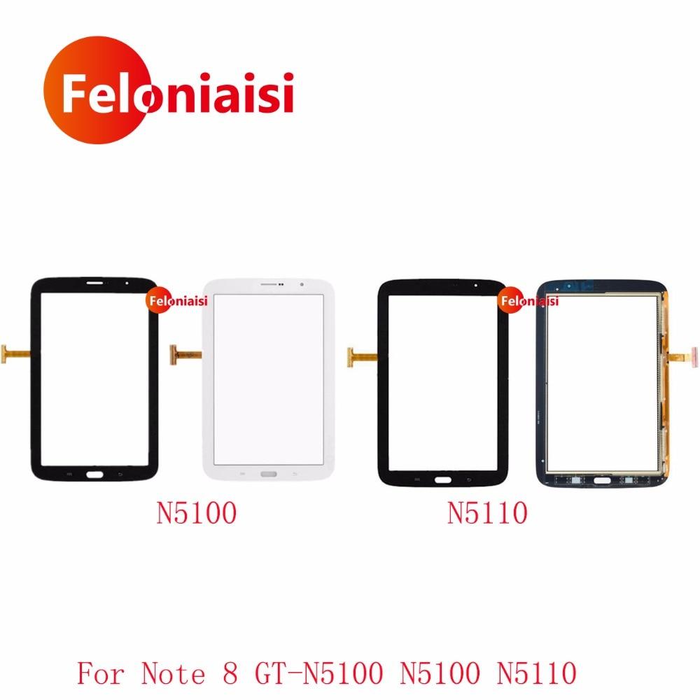 Haute Qualité 8.0 pour Samsung Galaxy Note 8.0 GT-N5100 N5100 N5110 Écran Tactile Digitizer Capteur Avant Outer Lentille En Verre Panneau