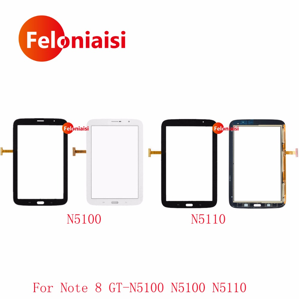 High Quality 8.0 For Samsung Galaxy Note 8.0 GT-N5100 N5100 N5110 Touch Screen Digitizer Sensor Front Outer Glass Lens Panel