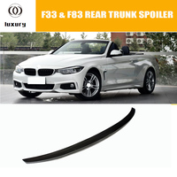P Style F33 Carbon Fiber Rear Trunk Spoiler for BMW F33 Convertible 4 Series ( non M4) Auto Racing Car Tail Boot Lip Wing
