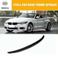 P estilo f33 fibra de carbono tronco traseiro spoiler para bmw f33 convertible 4 series (não m4) de corrida automóvel cauda do carro bota lábio asa