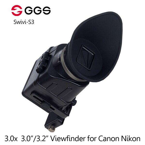 Ggs Swivi S3 3x Foldable Optical Viewfinder 3.0/3.2 Aspect Lcd For Canon 5d2 5d3 For Nikon D7000 D7200 D750 D610 D810 D800 Camera & Photo