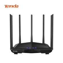 Tenda ac11 ac1200 sem fio wifi roteador repetidor banda dupla 2.4g/5g gigabit porta 802.11ac com alto ganho antenas controle de aplicativo