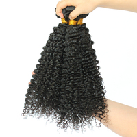 3B 3C Kinky Curly Hair Extension 3Pcs Brazilian Hair Weave Bundles Deals Honey Queen Hair Products Remy Human Hair Weaving
