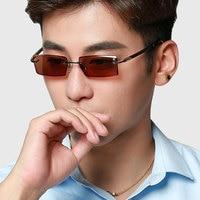 Vazrobe Photochromic glasses Men Rimless eyeglasses frame for Man Chameleon eyeglass Goggles for Driving UV400 diopter spectacle