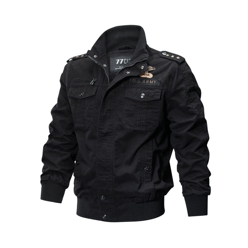 Coat Men Outwear Bomber-Jacket Brand Embroidery Clohing Men's Fashion New Military Cotton