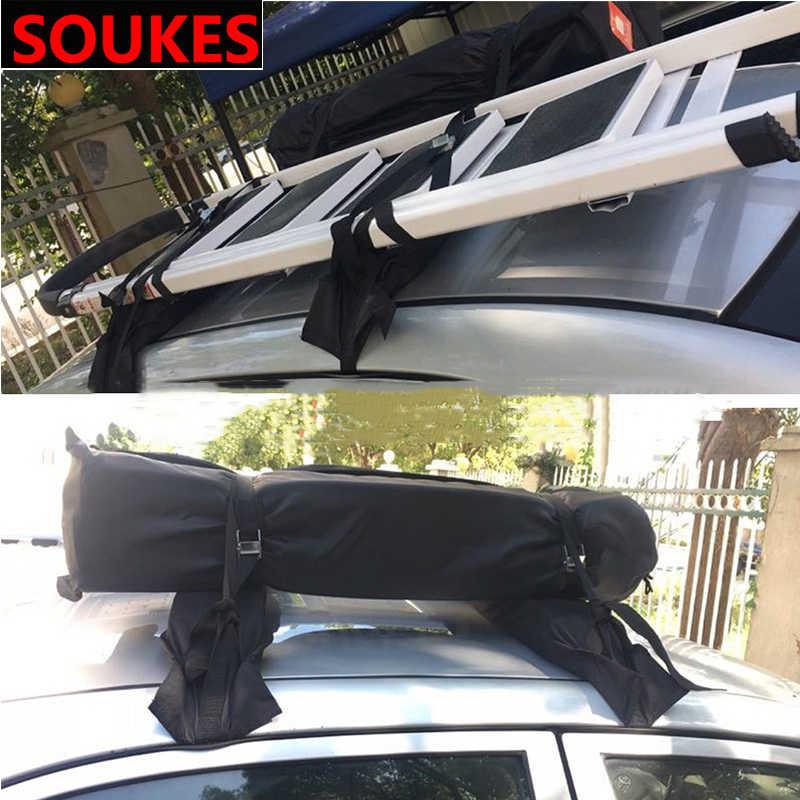 Lembut Atap Mobil Rak Atap Luar Ruangan Luggage Membawa untuk Skoda Octavia A5 A7 Kodiaq Luar Biasa 2 Cepat Fabia 1 Porsche 911 Cayenne Macan