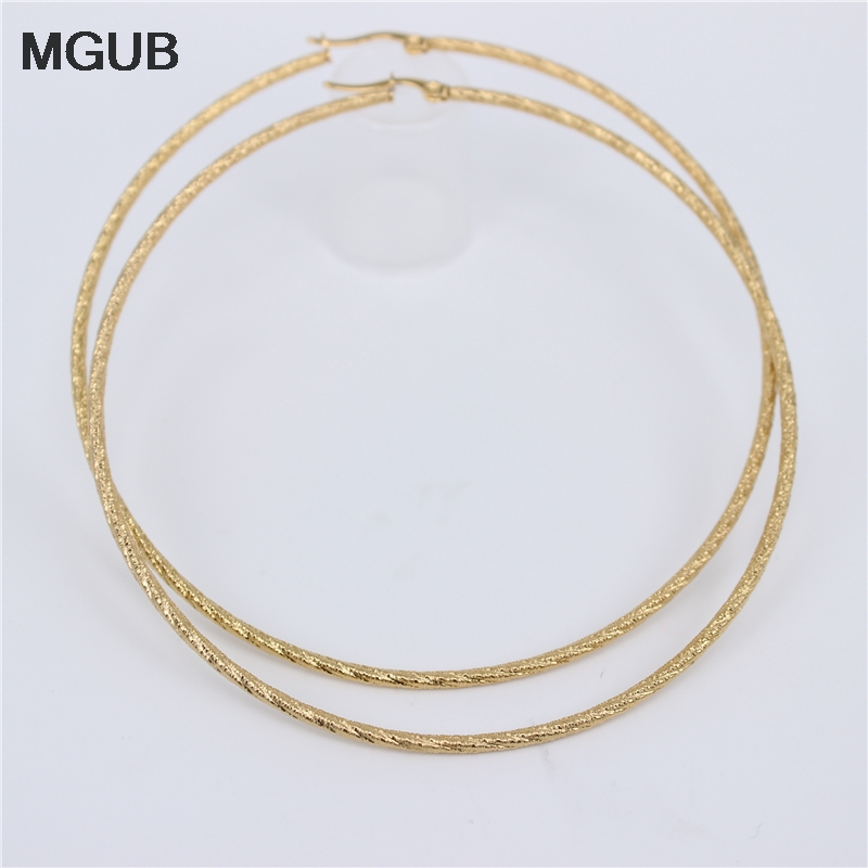70mm80mm90mm Cute And Exaggerated Size 2mm European And American Simple Coil Hoop Earrings LH666
