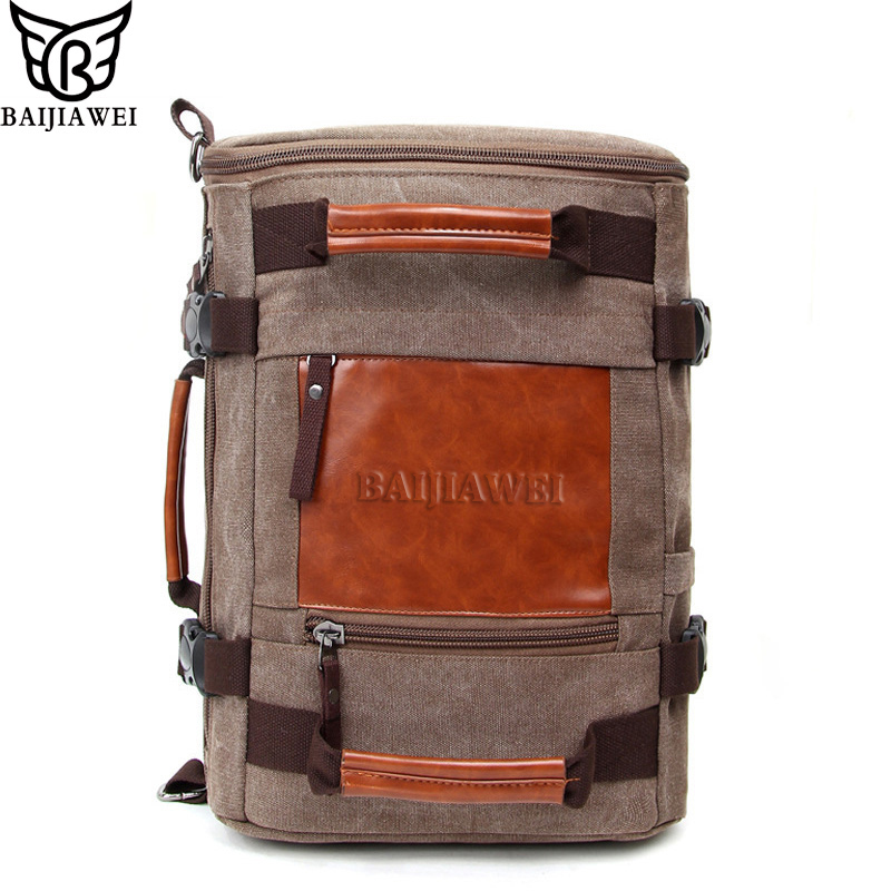 BAIJIAWEI Fashionable Casual Canvas Backpack  Shoulder Bags Travel Bag Large Capacity Backpacks Man Bags School Backpack oxford bag korean version of the female students shoulder bag large capacity backpack canvas backpacks