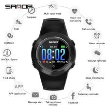 SANDA Leather Smart Watch HZ181 IP68 Waterproof Heart Rate Monitor Blood Pressure Men Women Smartwatch For IOS Android Phone герметичный чехол tribord водонепроницаемый чехол маленького размера для телефона ipx7