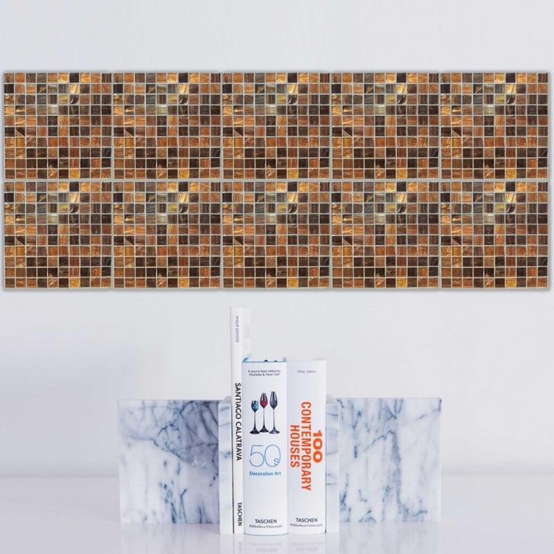 20 stücke Kunstmarmor Pvc-wasserdichte selbstklebende mosaik fliesen ...