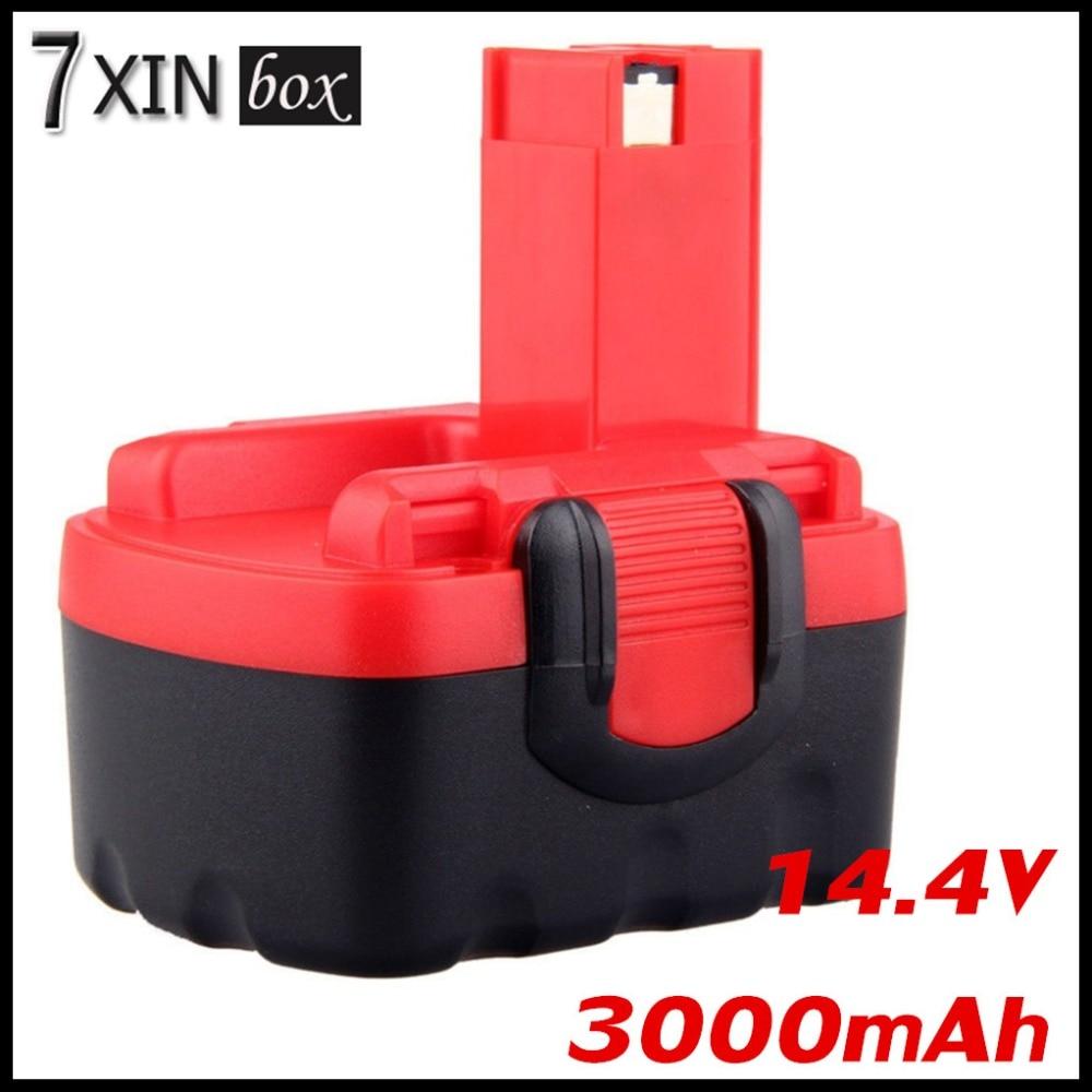 3.0Ah 14.4V NI-MH Battery For Bosch BAT038 BAT040 Drill 2607335685 2607335694 2607335264 2607335276 2607335465 2607335711 bat041 electric drill battery 14 4v 2000mah ni mh cd for bosch bat041 bat140 bat038 bat040 2 607 335 711 14 4v 2 0ah battery