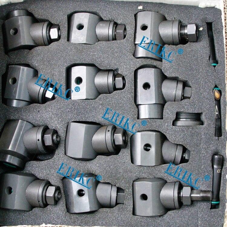 ERIKC инжекторе ремонтные инструмент Наборы и подача топлива ремонт оборудования, зажим инжектора инструменты 12 шт. используется на Тесты bench