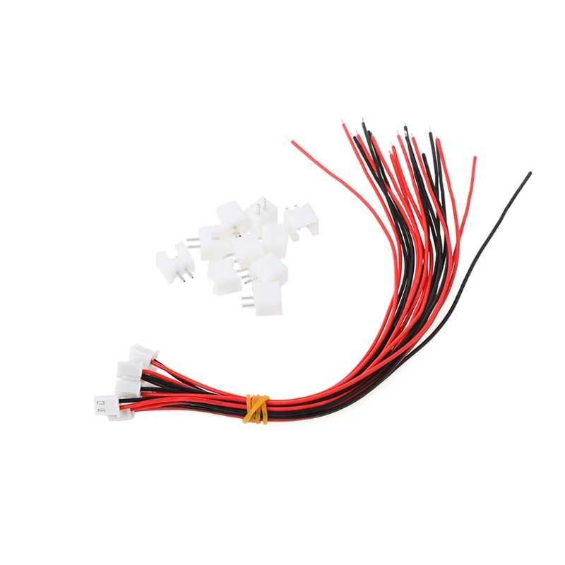 10 adet/grup 24AWG JST XH2.54 2 pinli konnektör fiş tel kablo 20cm uzunluk