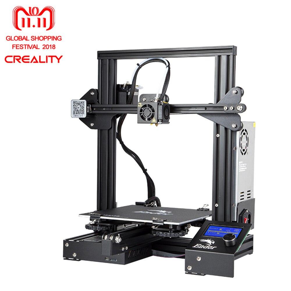 Creality 3D Ender-3/Ender-3 Pro Open Costruire Stampante Versione di Aggiornamento Magia Cmagnet Costruire Superficie Della Piattaforma Con MeanWell Alimentazione