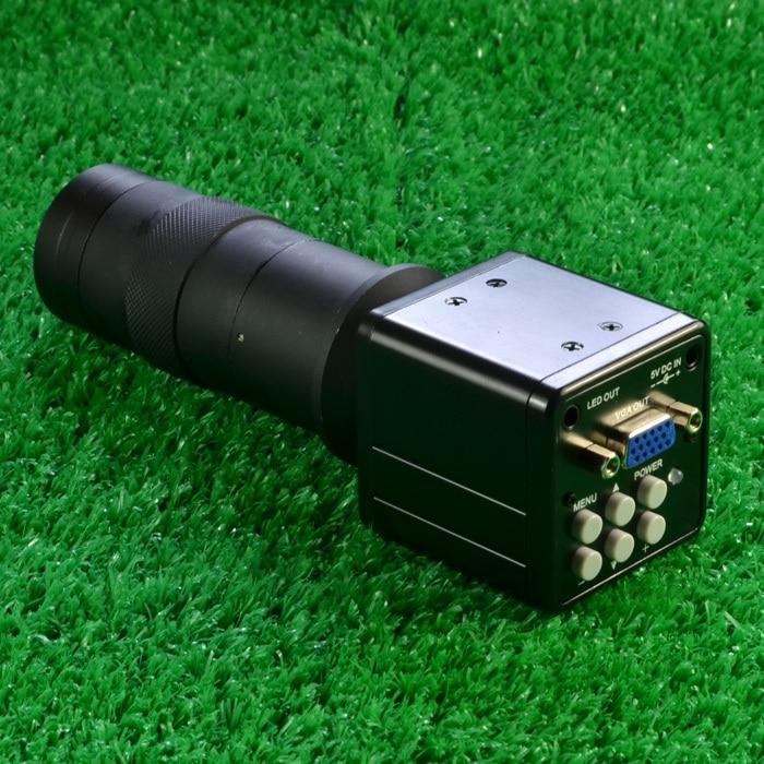 2.0MP HD c-mount industrie Microscope caméra numérique VGA sortie laboratoire W/Crosshair + c-mount lentille avec ligne AV VGA