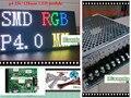 Бесплатная доставка DIY видео СВЕТОДИОДНЫЙ дисплей наборы 10 шт. P4 крытый SMD RGB Led Модуль (256*128 мм) + RGB led контроллер + 2 шт. питания